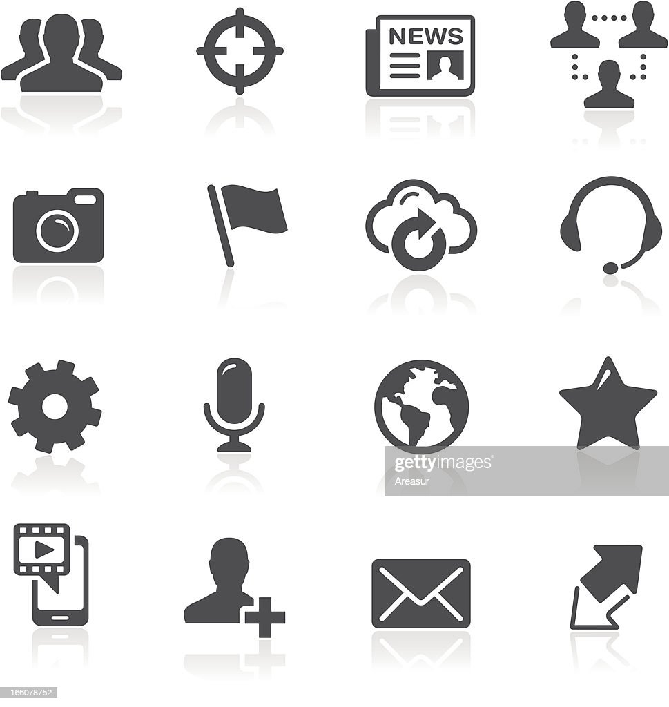 Vector illustration of social network icons