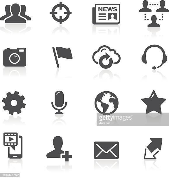 illustration vectorielle de réseau social icônes