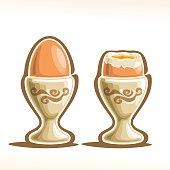 Vector illustration of Soft Boiled Egg in Holder