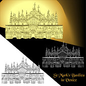 Vector illustration of St. Mark's Basilica in Venice (Italy)