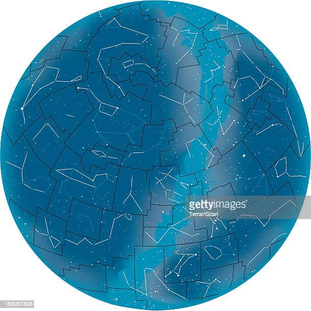 Vector illustration of starmap or staratlas