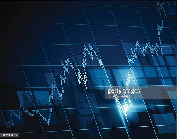 Vektor-illustration der Börse chart