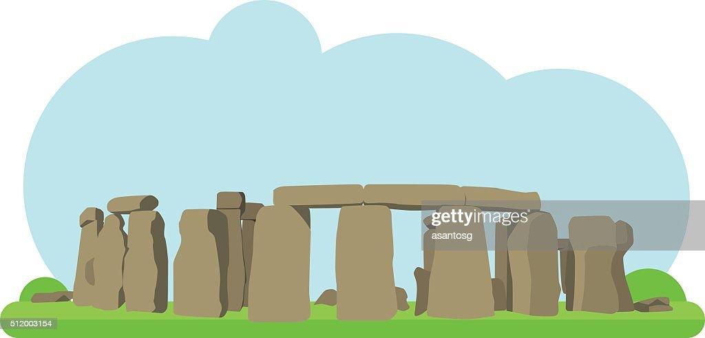 Vector illustration of Stonehenge in flat style