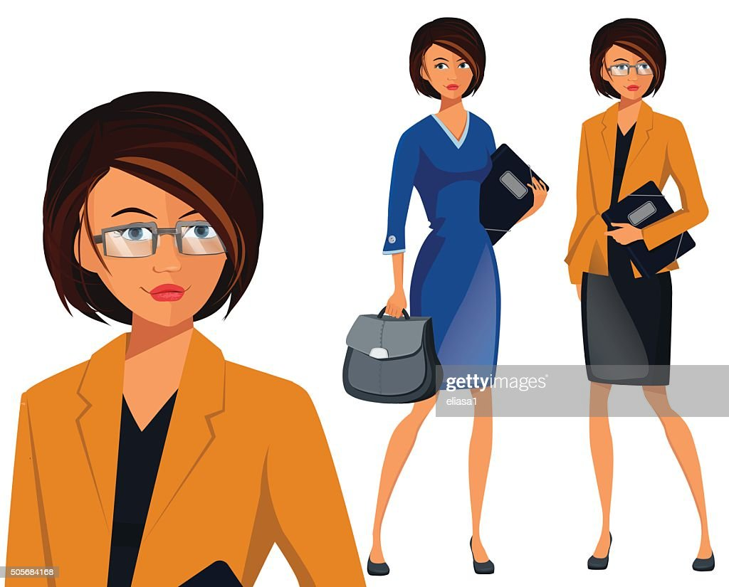 Vector Illustration of Successful Business Woman