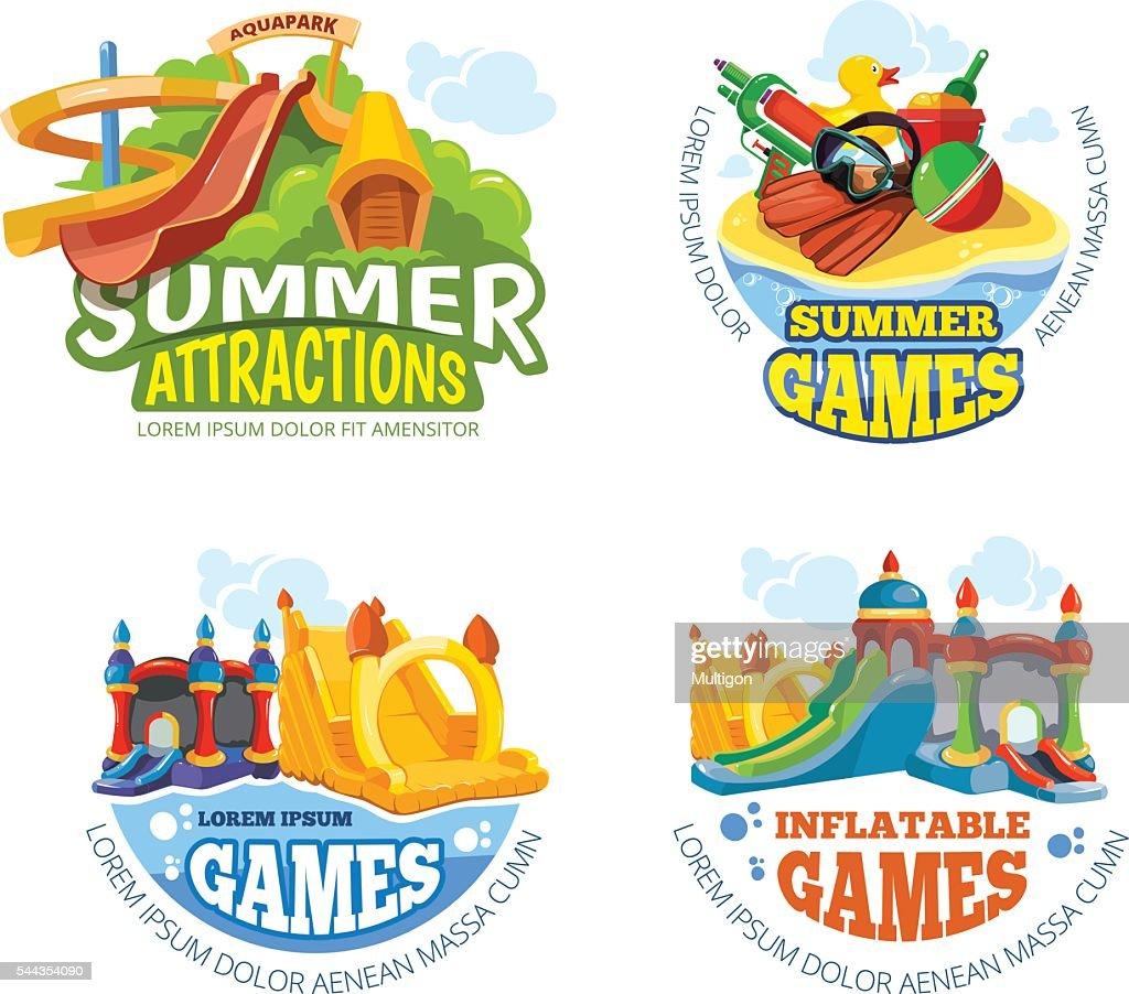 Vector illustration of summer labels