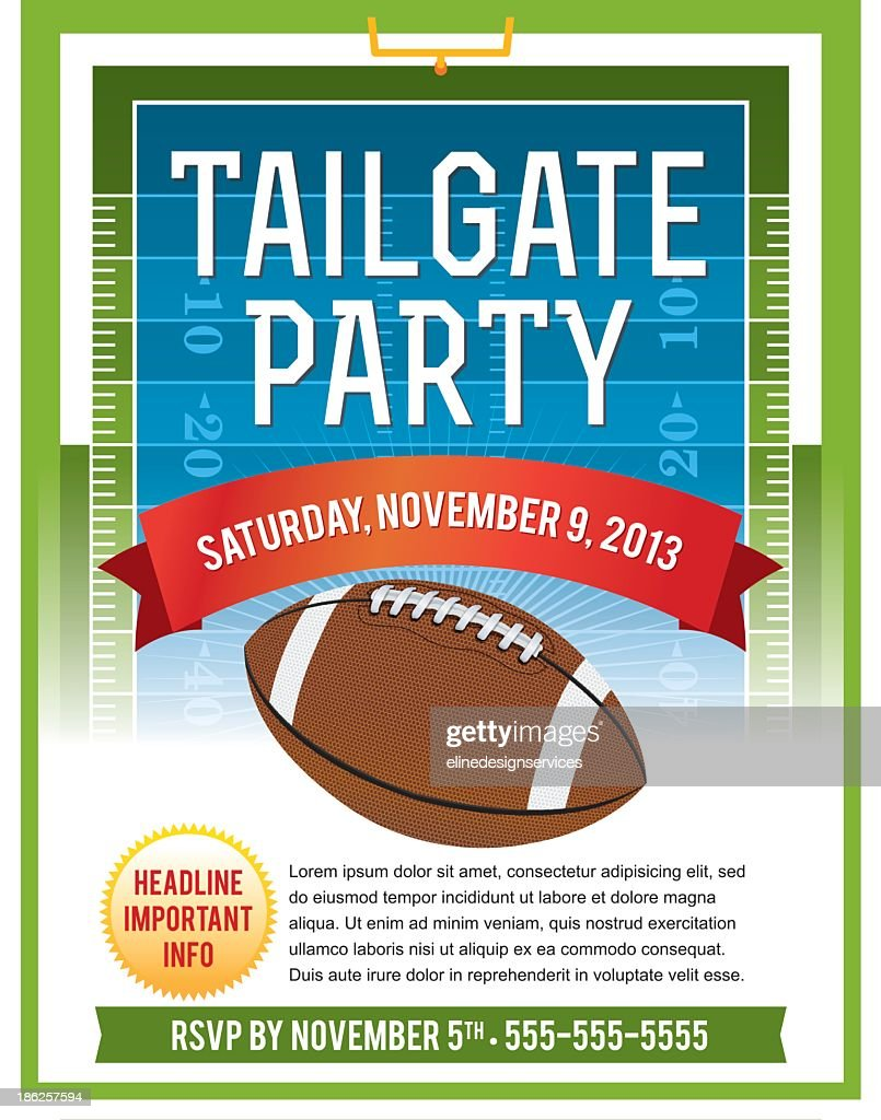 Vector illustration of tailgate flyer
