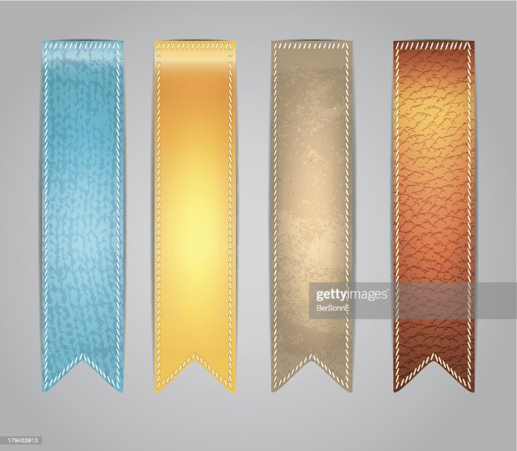 Vector illustration of Textured colorful Stickers