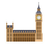 Vector illustration of the Big Ben