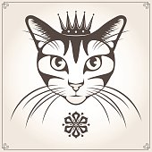 Vector illustration of the cat