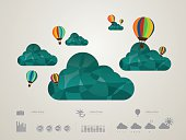 vector illustration of the Cloud icons