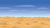 Vector illustration of the desert