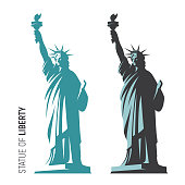 Vector illustration of the Statue of Liberty in New York City