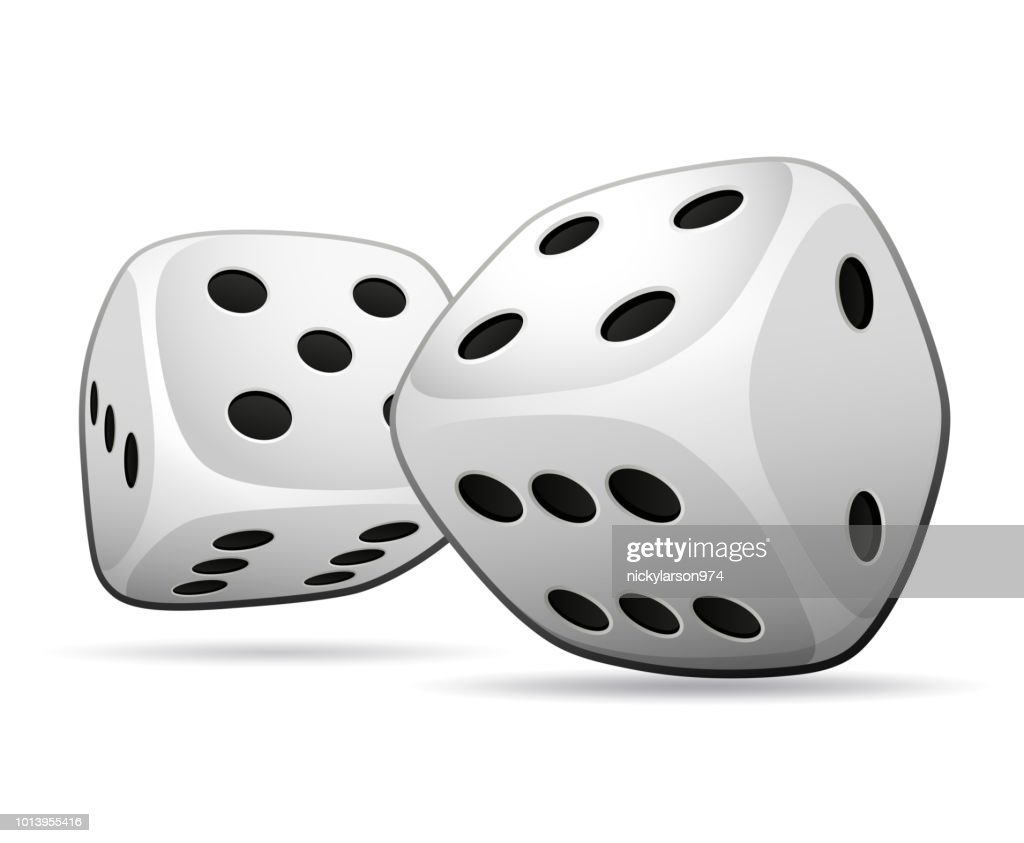 Vector illustration of two dices design concept