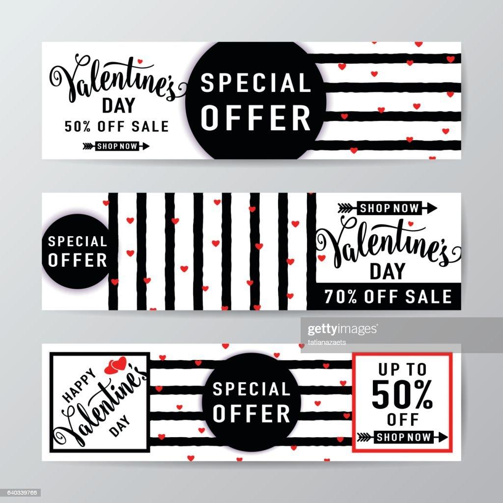 Vector illustration of valentines day sale background