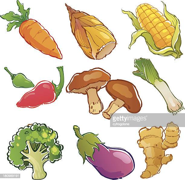 ベクトルイラストセットの野菜