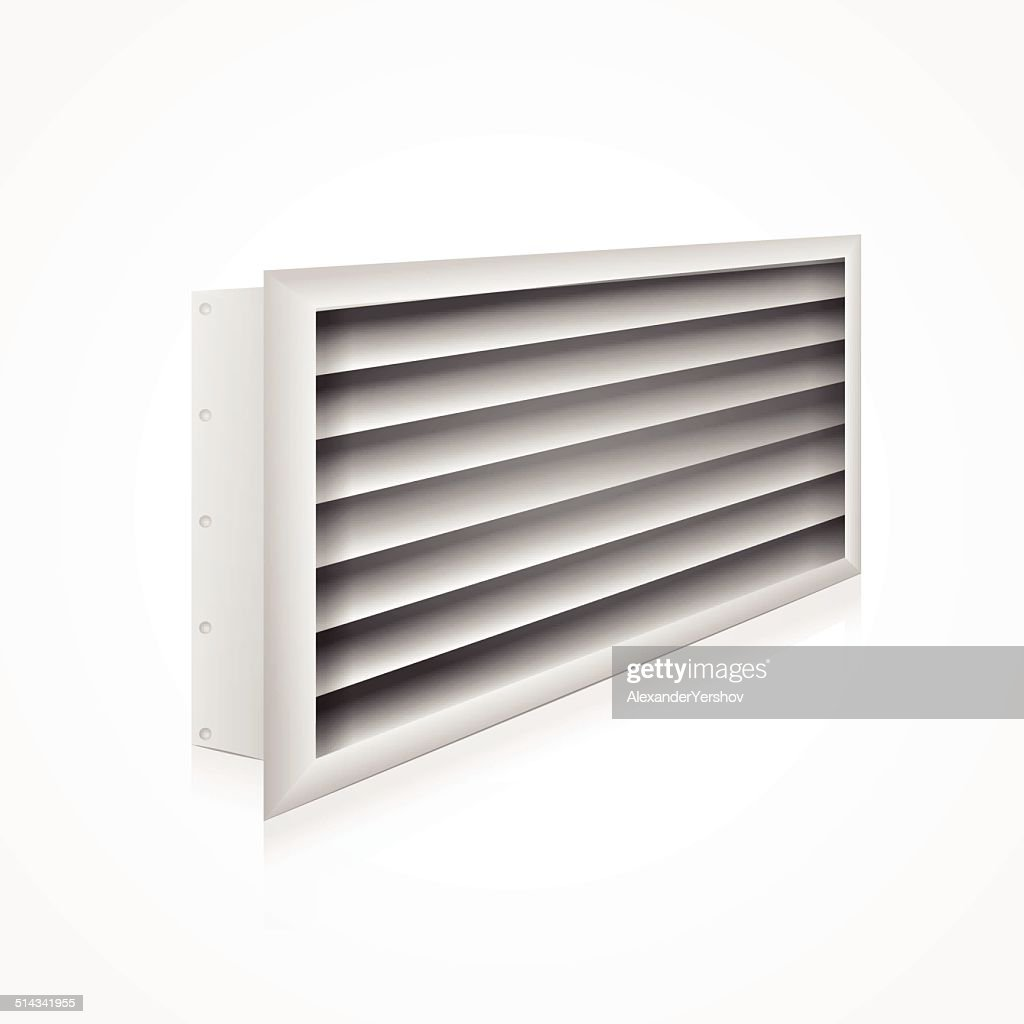 Vector illustration of ventilation louver