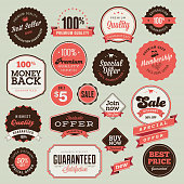 Vector illustration of vintage badges and labels
