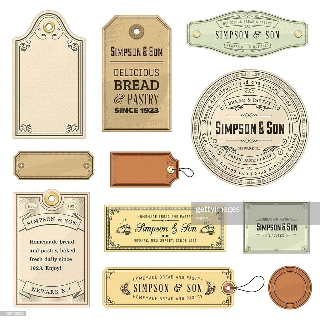 Vector illustration of vintage labels