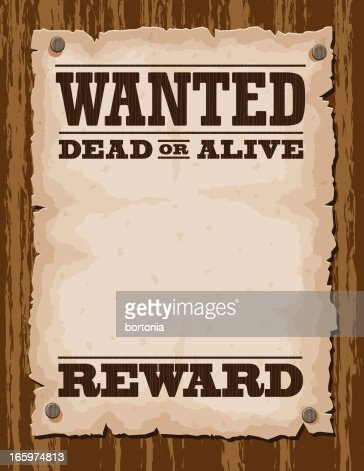 Vector Illustration Of Wanted Poster Template Vector Art | Getty Images