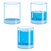 Vector Illustration Of Water Glasses