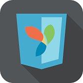 vector illustration of web development shield sign php framework yii