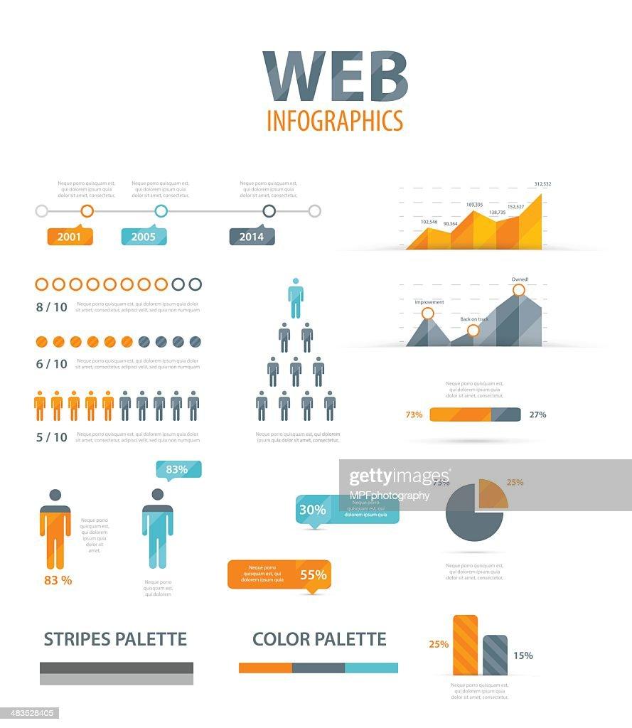 Vector illustration of web infographics
