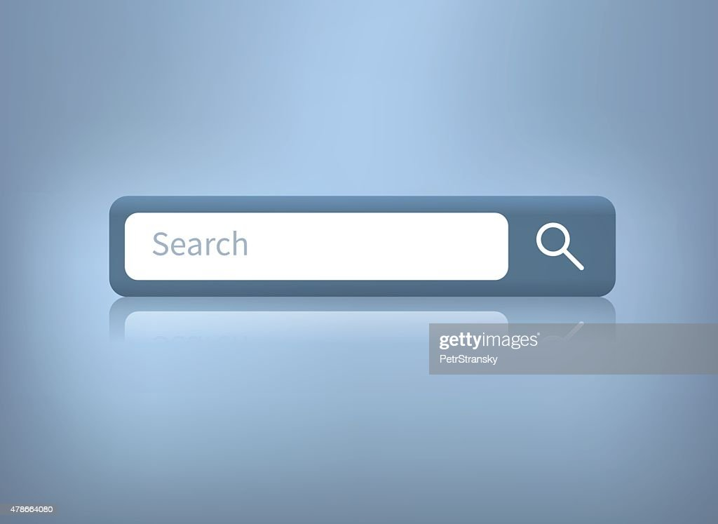 vector illustration of web search bar on blue background