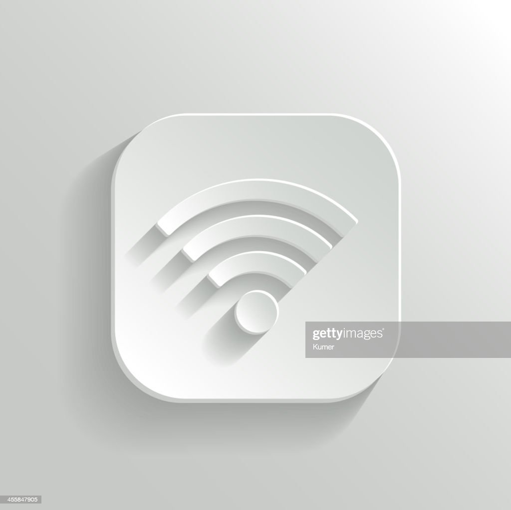 3D vector illustration of Wi-Fi icon in white