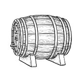 Vector illustration of wine barrel