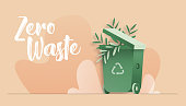 vector illustration zero waste concept flat