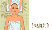 Vector illustration on the theme of spa and beauty