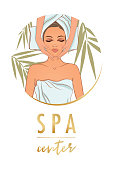 Vector illustration on the theme of spa  center