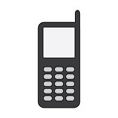 vector illustration phone icon classic design white background