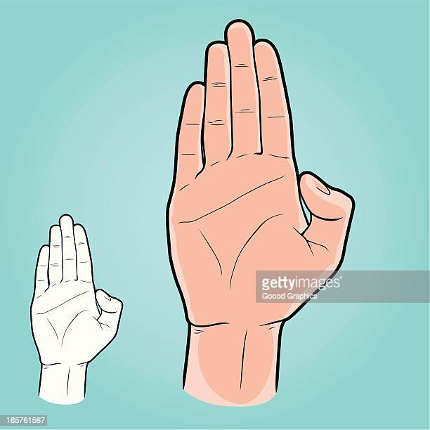 Vector illustration - Plain Hand with palm upfront