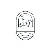 Vector Illustration Poodle Emblem.