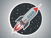 Vector illustration rocket