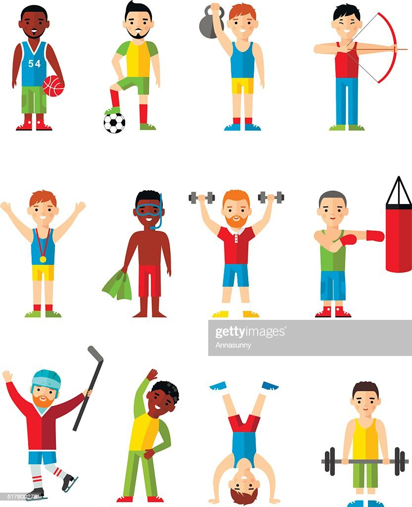 Vector illustration sport healthy leisure man.