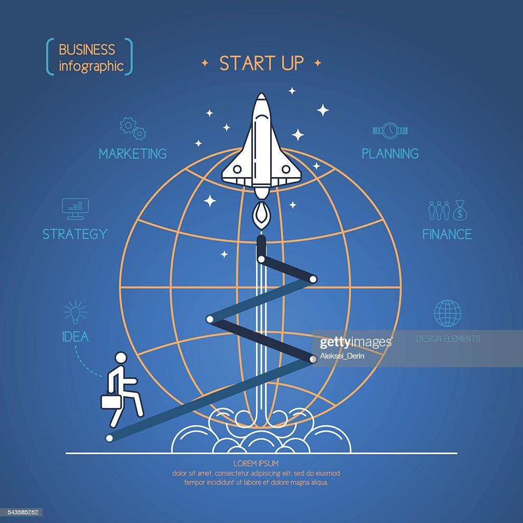 Vector illustration start up