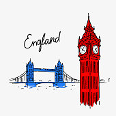 Vector Illustration Symbol Attractions England