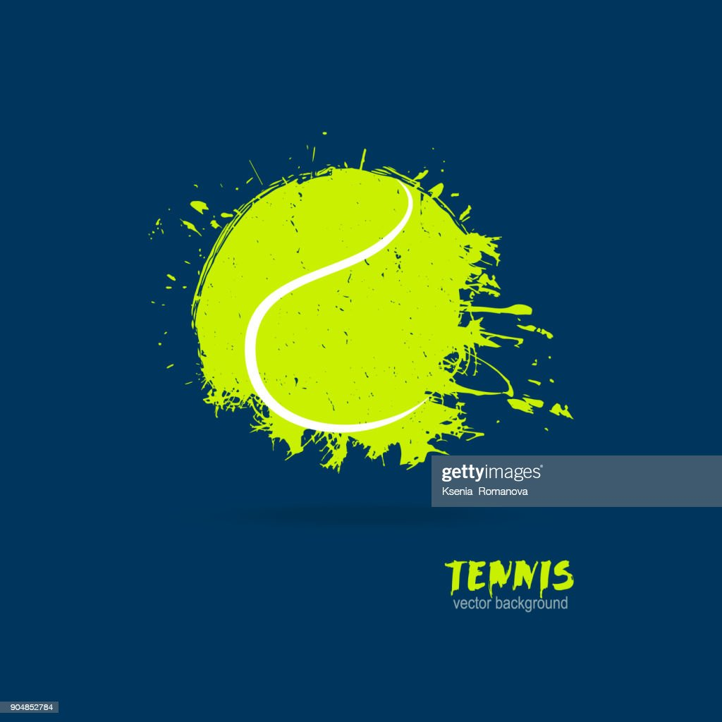 Vector illustration tennis ball. Design print for T-shirts.