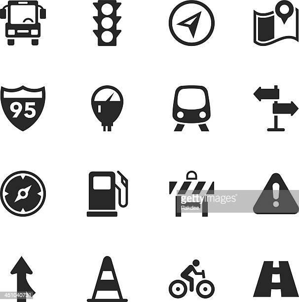 vector illustration traffic silhouette icons - parking meter stock illustrations