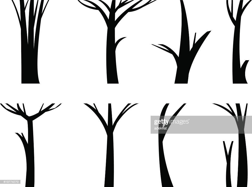 Vector illustration tree trunk.