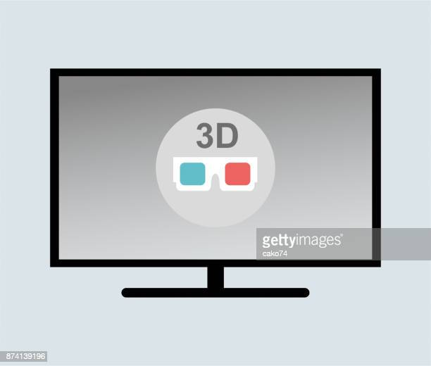 3D TV vector illustration