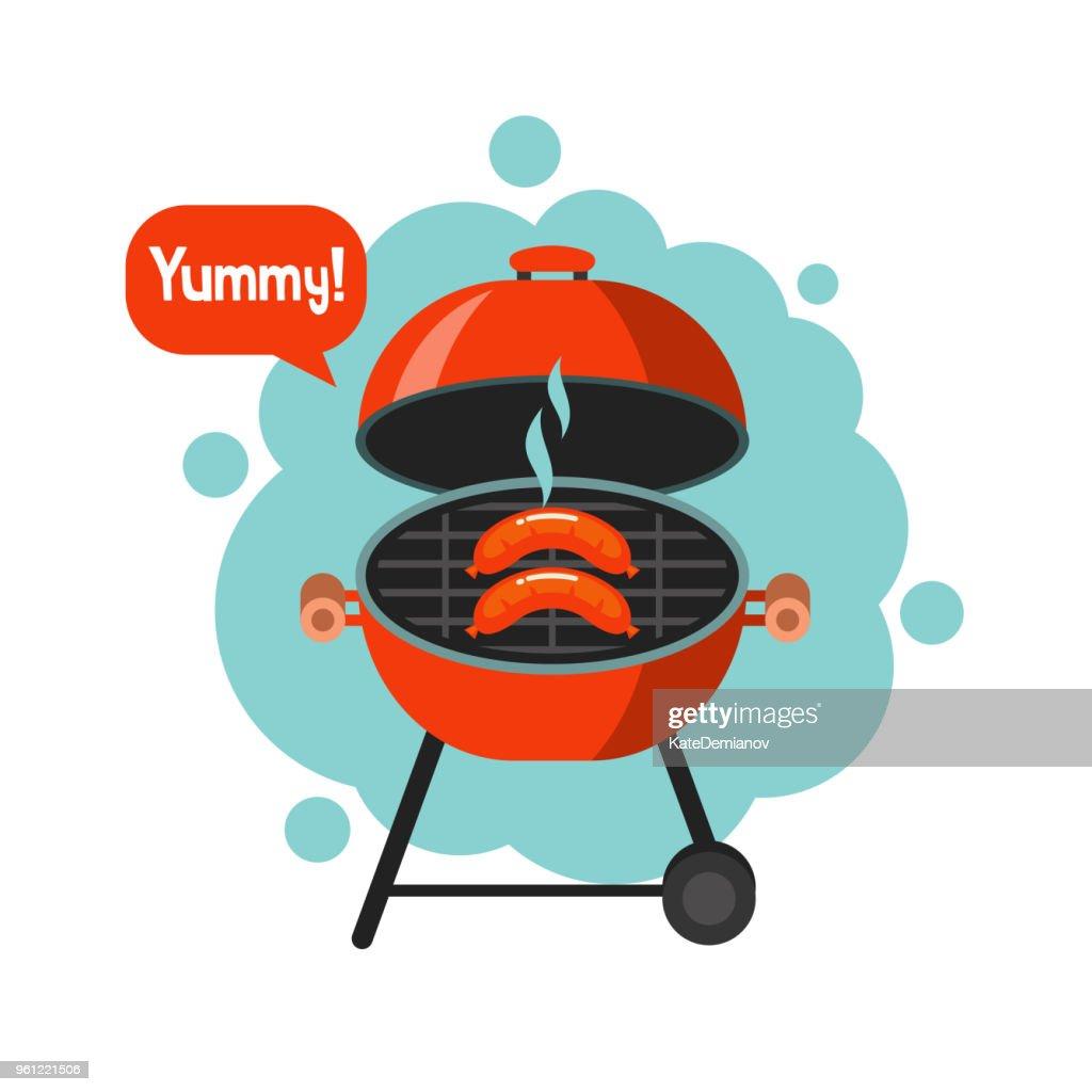 BBQ. Vector illustration.