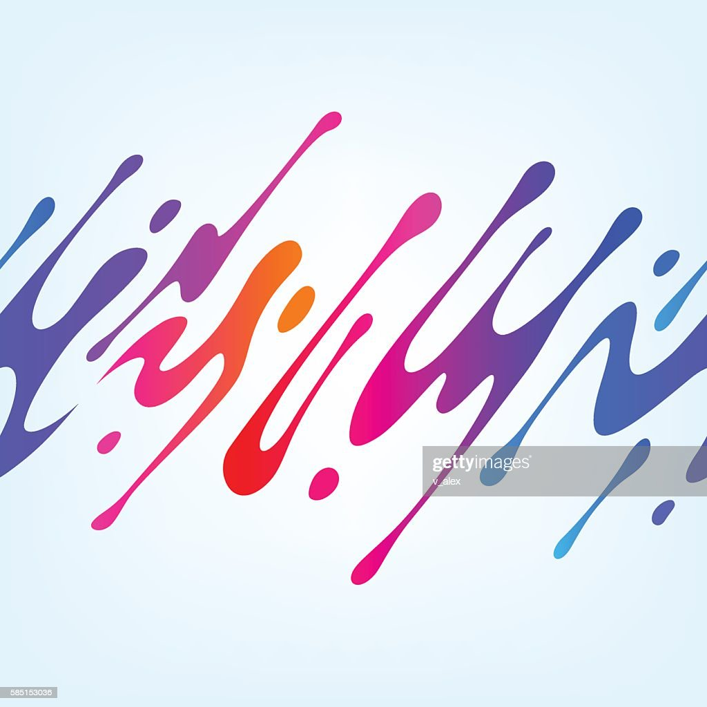 Vector Illustration with Abstract Colorful Shape
