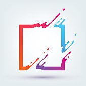 Vector Illustration with Abstract Colorful Square