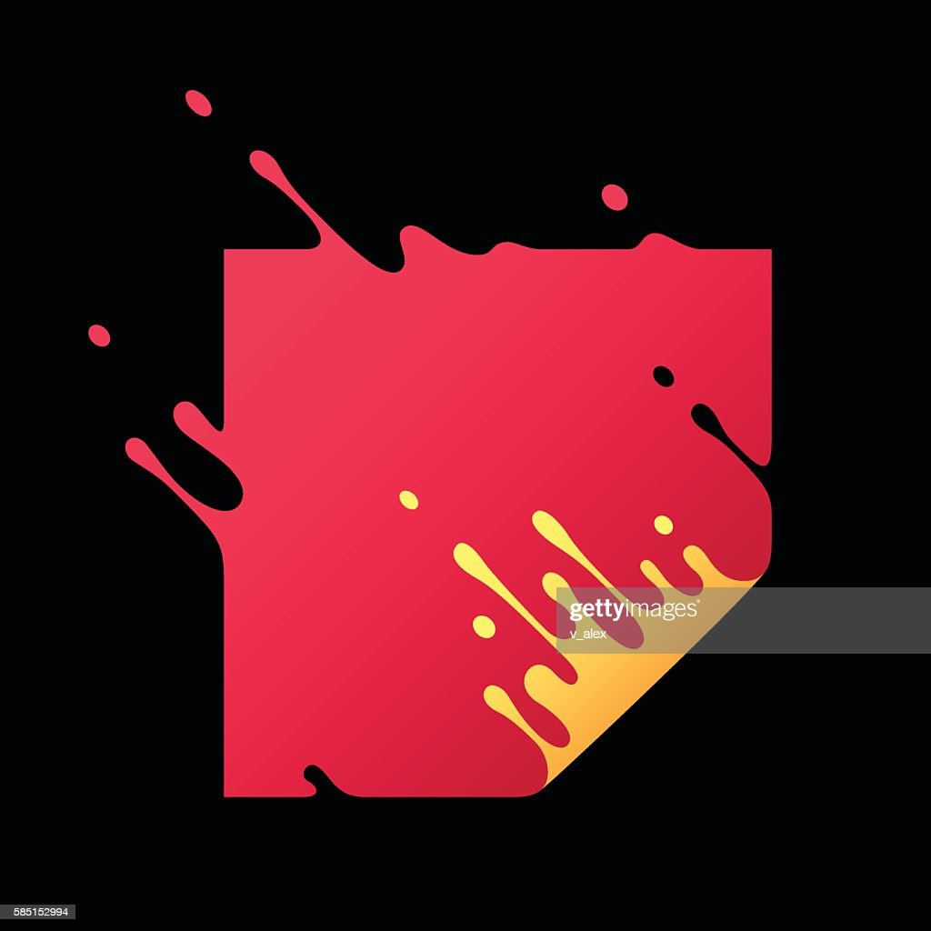 Vector Illustration with Abstract Red Square