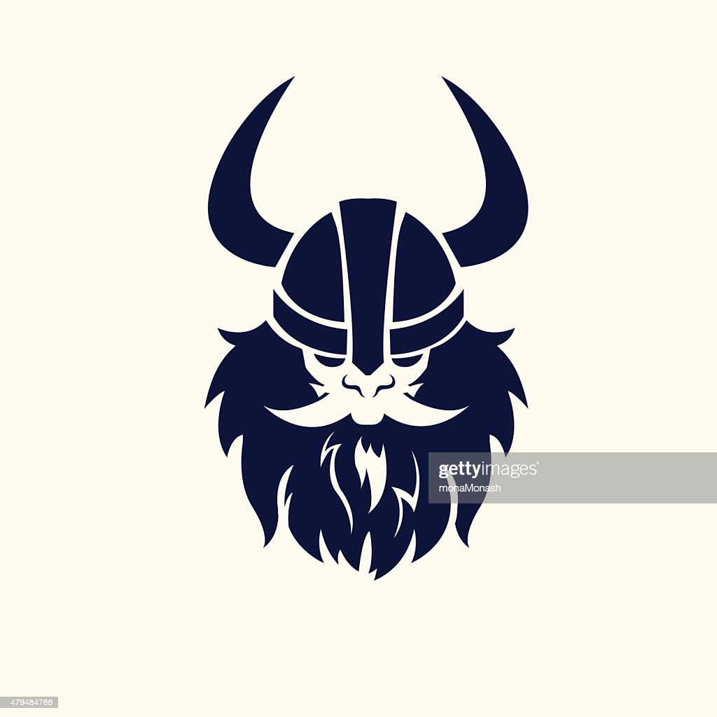 Vector Illustration with ancient viking.