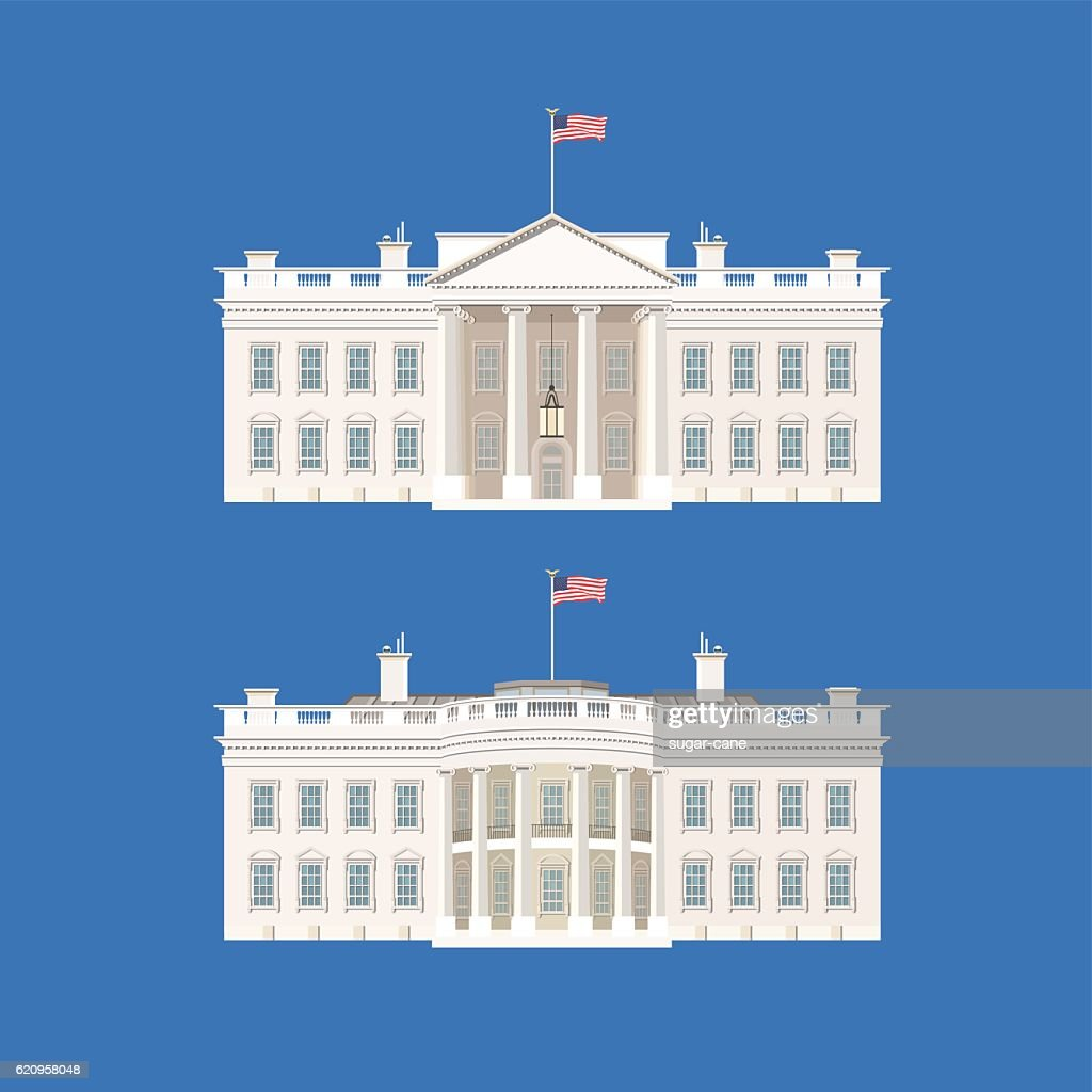 Vector Illustration With White House.