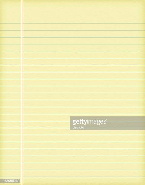 vector illustrations of lined paper with texture - yellow stock illustrations